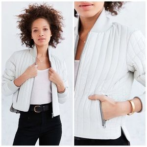 New Without Walls Reversible Cropped Bomber Jacket